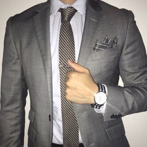 Other - Kenneth Cole Suit Jacket + Free Knit Tie